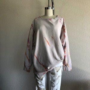 UO Tie Dye Drop Shoulder Oversized Sweatshirt